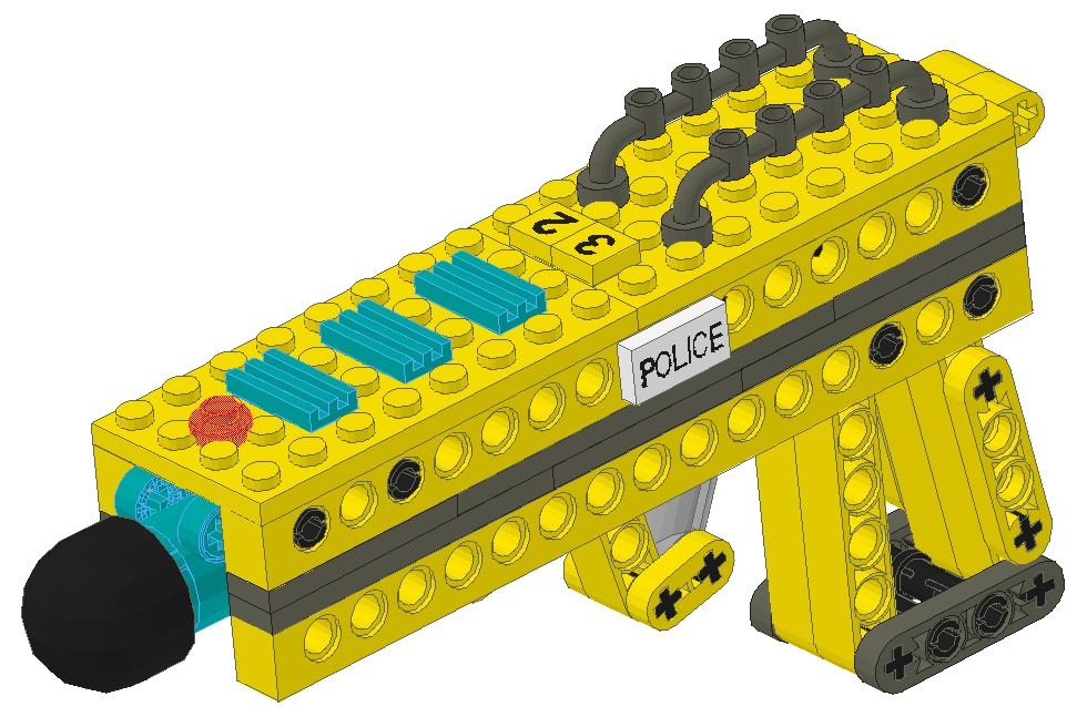 Rubber Band Guns Made From Technic Parts Lego Technic And Model